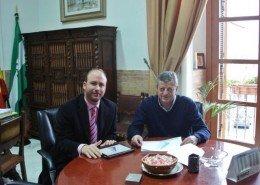 Miguel Martínez (Alcalde de Vélez Rubio) y David Cánovas (Director Comercial de Key Mare)