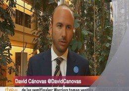 Canal 24h TVE entrevista a David Cánovas en el Parlamento Europeo