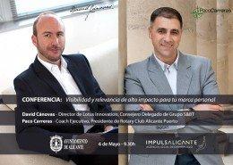 David Cánovas Expósito y Paco Carreras - Conferencia Branding Personal en Centro de Emprendedores de Alicante