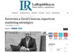 Entrevista a David Cánovas Expósito en el Diario La República