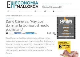Entrevista a David Cánovas Expósito en Economia de Mallorca